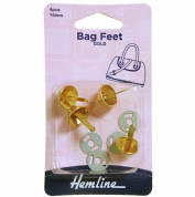 Hemline Gold Bag Feet - 15mm